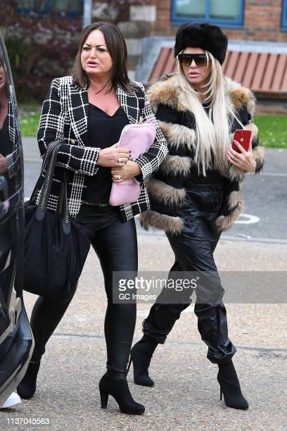 Katie Price at Crawley Magistrates Court on March 20, 2019 in Crawley, West Sussex.