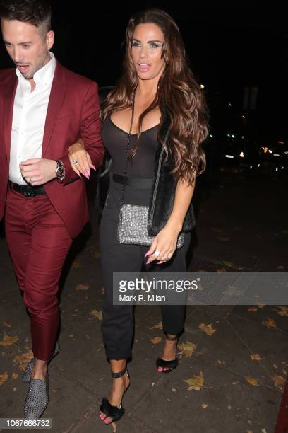 Katie Price attending Phil Turners 50th Birthday at Proud Embankment on November 14 2018 in London England