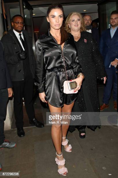 Katie Price attending the ITV Gala afterparty at Aqua on November 9 2017 in London England