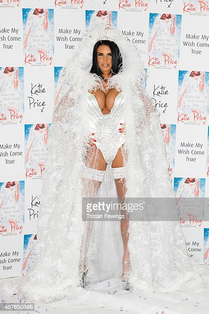 Katie Price attends a photocall to launch her new novel Make My Wish Come True at The Worx on October 22 2014 in London England