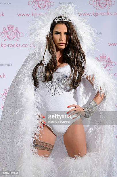 Katie Price attends a photocall to launch her new venture 'KP Rocks' at The Worx on November 7 2012 in London England