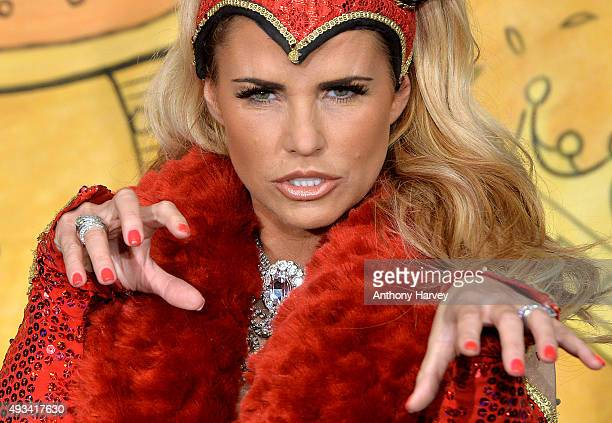 Katie Price attends a photocall to launch 'Sleeping Beauty' at New Victoria Theatre on October 20 2015 in Woking England