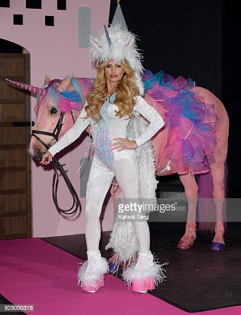 Katie Price attends a press launch for the new reality series 'Katie Price's Pony Club' at The Worx on April 27 2016 in London England