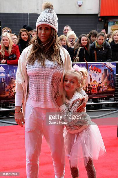 Katie Price attends a VIP screening of 'The Lego Movie' on February 9 2014 in London England