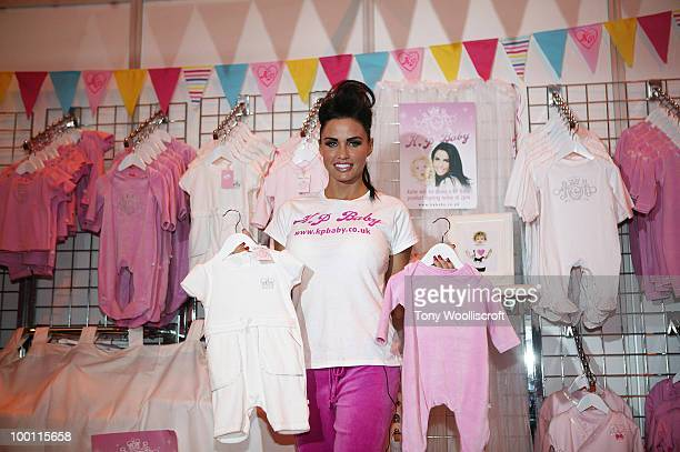 Katie Price attends photocall at The Baby Show to launch her line of baby clothes - 'K.P Baby' at NEC Arena on May 21, 2010 in Birmingham, England.