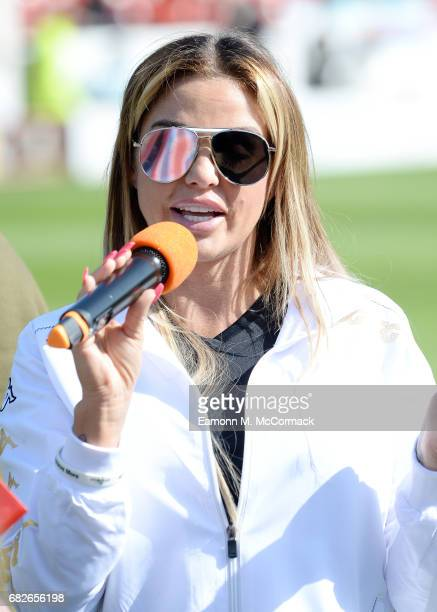 Katie Price attends Sellebrity Soccer Match in aid of Smile For Joel and Compton Hospice at Banks' Stadium on May 13 2017 in Walsall England