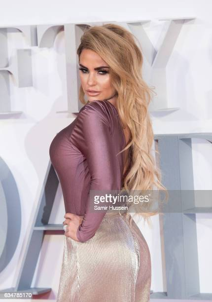 Katie Price attends the 'Fifty Shades Darker' UK Premiere on February 9 2017 in London United Kingdom