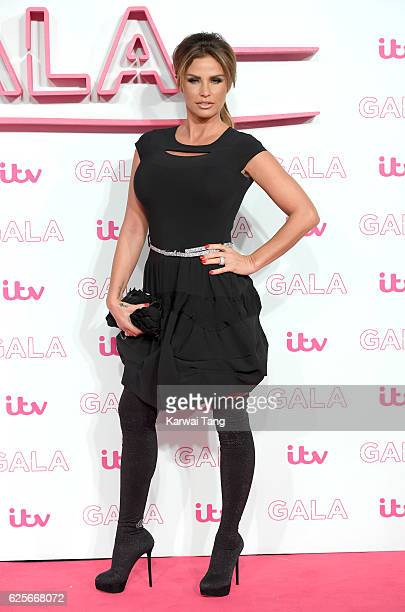 Katie Price attends the ITV Gala at London Palladium on November 24 2016 in London England