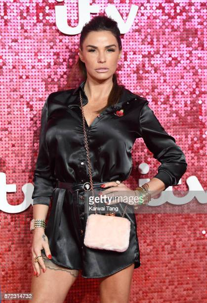 Katie Price attends the ITV Gala at the London Palladium on November 9 2017 in London England