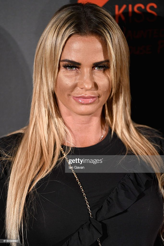 Katie Price attends the Kiss FM Haunted House Party at SSE Arena on October 27, 2016 in London, England.