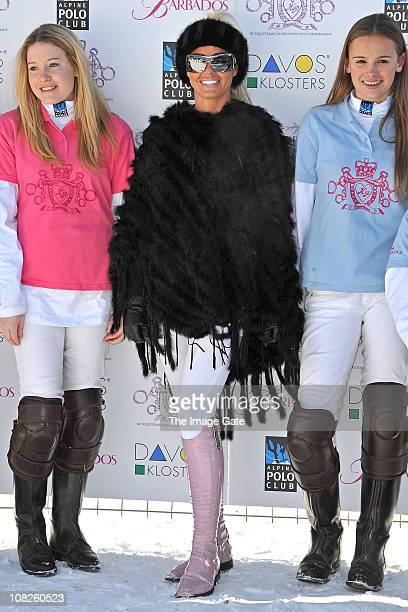 Katie Price attends the KP Equestrian photocall at the 7th Berenberg SnowPolo event on January 23 2011 in Klosters Switzerland