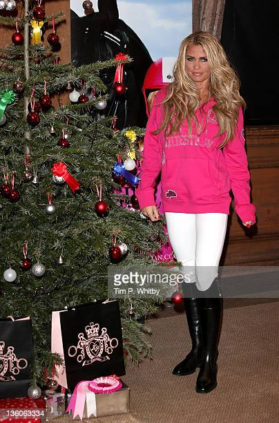 Katie Price attends the London International Horse Show to sign her KP Equestrian range at Olympia Exhibition Centre on December 18 2011 in London...