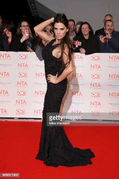 Katie Price attends the National Television Awards 2018 at The O2 Arena on January 23 2018 in London England