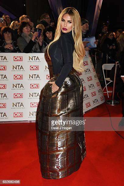 Katie Price attends the National Television Awards at Cineworld 02 Arena on January 25 2017 in London England