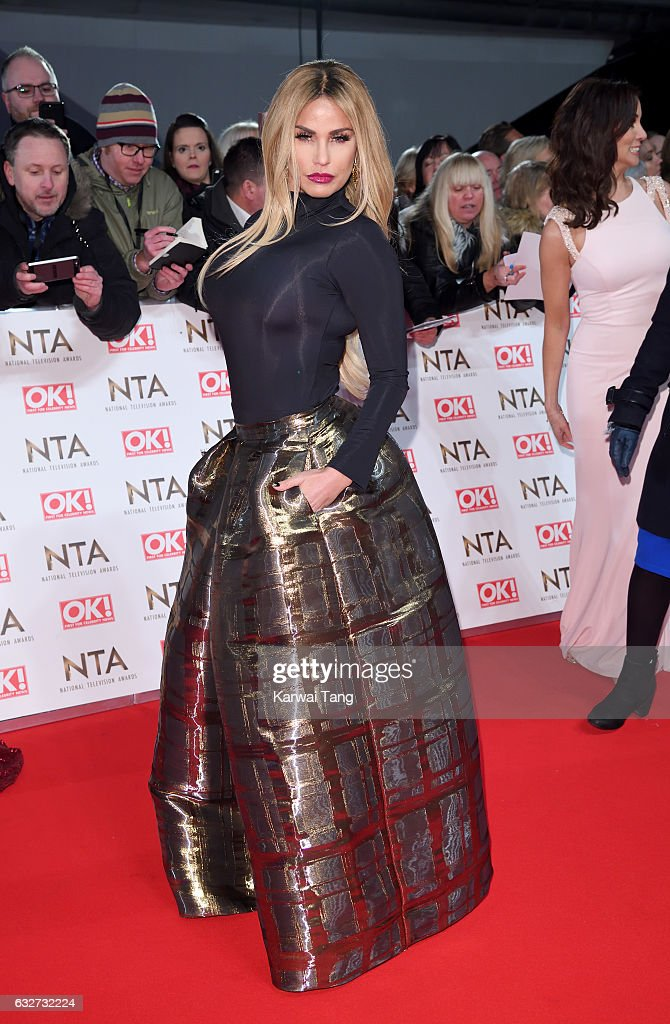 Katie Price attends the National Television Awards at The O2 Arena on January 25, 2017 in London, England.