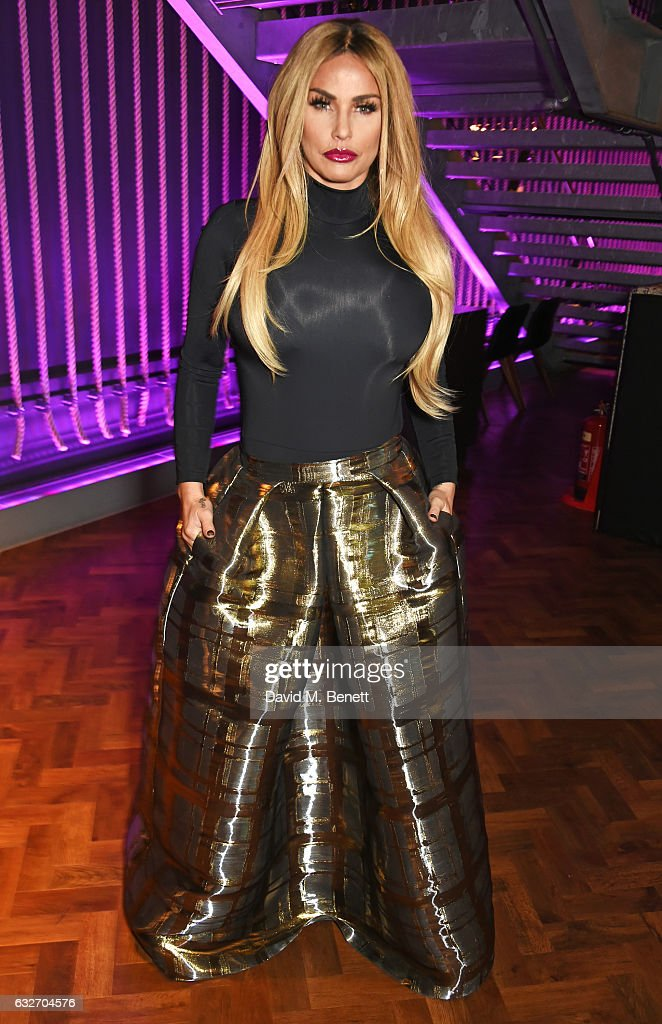 Katie Price attends the National Television Awards cocktail reception at The O2 Arena on January 25, 2017 in London, England.