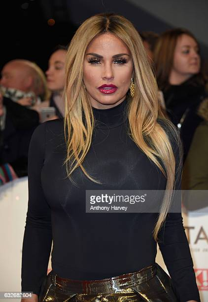 Katie Price attends the National Television Awards on January 25, 2017 in London, United Kingdom.