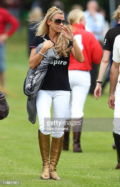 Katie Price attends the Rundle Cup at Tidworth Polo Club on July 9 2011 in Tidworth Wiltshire