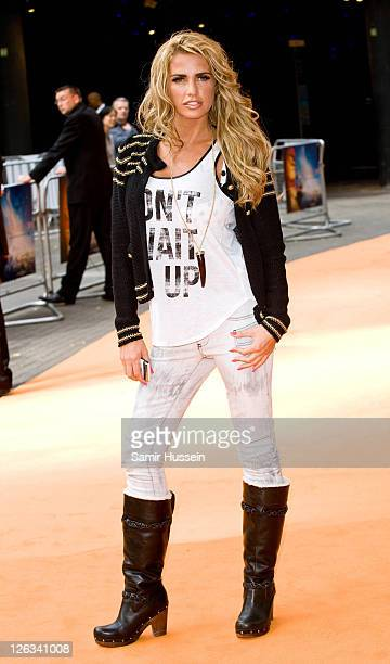 Katie Price attends the UK premiere of The Lion King 3D at The BFI IMAX Waterloo on September 25 2011 in London United Kingdom