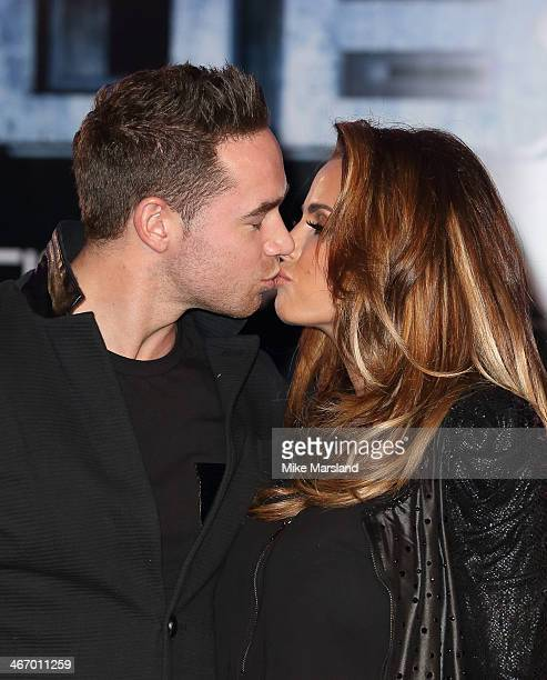 Katie Price attends the World Premiere of 'Robocop' at BFI IMAX on February 5 2014 in London England