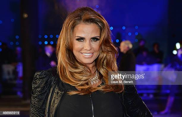 Katie Price attends the World Premiere of 'RoboCop' at the BFI IMAX on February 5 2014 in London England