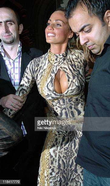 Katie Price during Katie Price Sighting at Boujis September 19 2006 at Boujis in London Great Britain