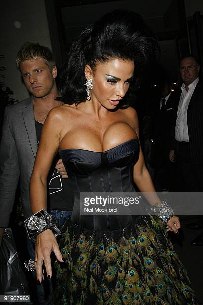 Katie Price is seen leaving the Mayfair Hotel on October 15 2009 in London England