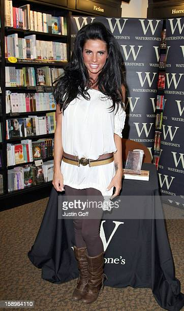 Katie Price Launches Her New Book 'Angel Uncovered' At Waterstones In Croydon Surrey