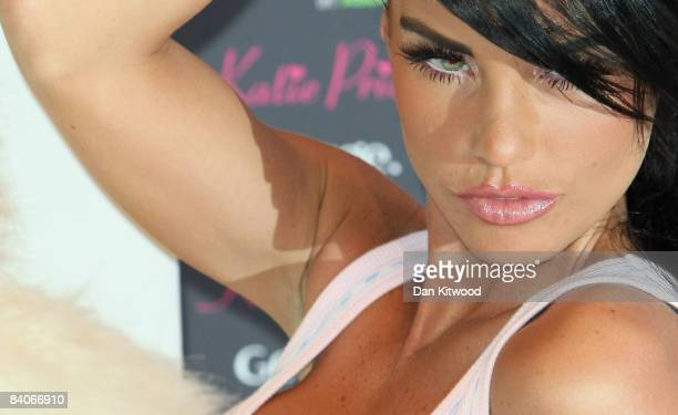 Katie Price launches her new Nightwear range at the Worx Studio on December 17, 2008 in London, England.