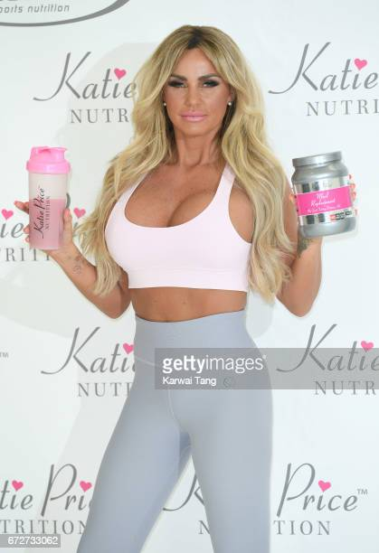 Katie Price launches her new range of nutrition products at The Worx Studios on April 25 2017 in London England