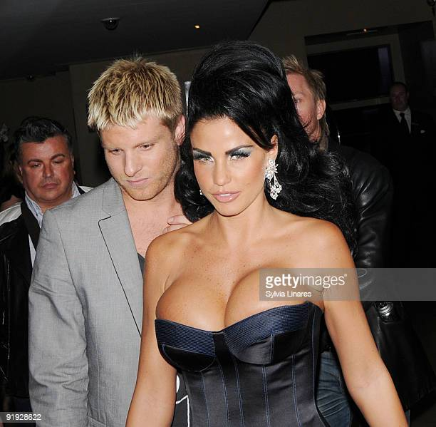 Katie Price leaves May Fair Hotel on October 15 2009 in London England