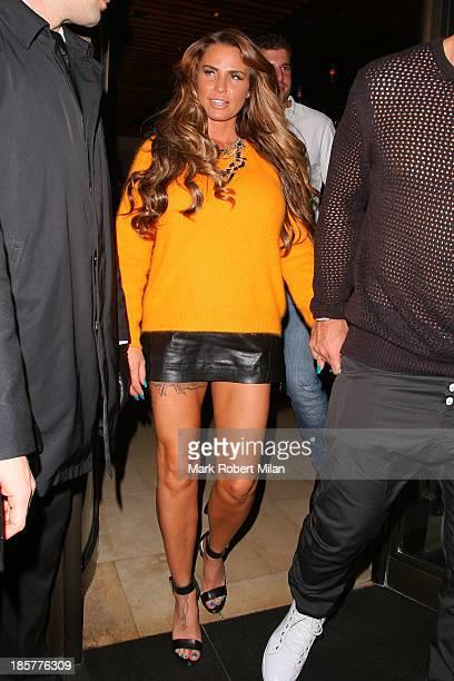 Katie Price leaving Novikov restaurant on October 24 2013 in London England