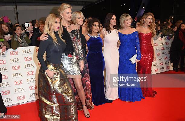 Katie Price Penny Lancaster Jane Moore Saira Khan Andrea McLean Ruth Langsford and Stacey Solomon hosts of 'Loose Women' attend the National...