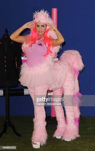 Katie Price poses at a photocall to mark the fifth birthday of KP Equestrian at The Worx Studio's on March 26 2013 in London England