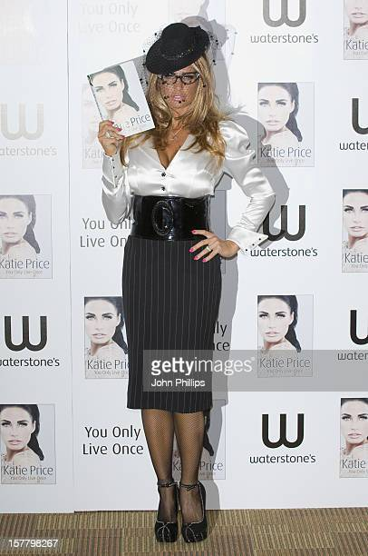 Katie Price Poses For Photos Ahead Of A Public Book Signing For Her Book You Only Live Once Waterstone'S Piccadilly London