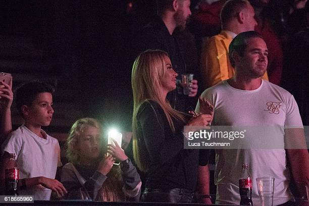Katie Price Princess Tiaamii Kieran Hayler and Junior Andre are seen at the Kiss FM Haunted House Party at SSE Arena on October 27 2016 in London...
