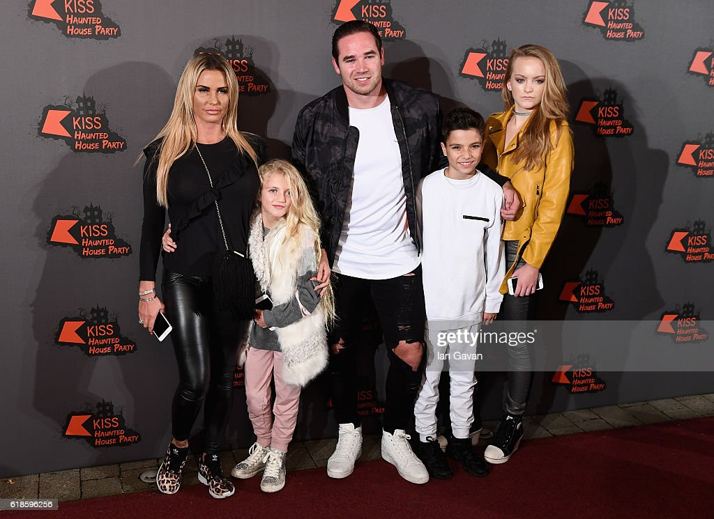 Katie Price, Princess Tiaamii, Kieran Hayler, Junior Andre and a guest attend the Kiss FM Haunted House Party at SSE Arena on October 27, 2016 in London, England.