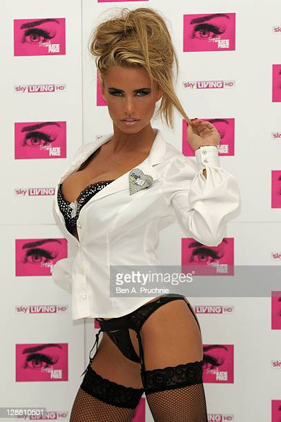 Katie Price promotes her new Sky Living series 'Signed By Katie Price' at The Worx on October 10, 2011 in London, England.