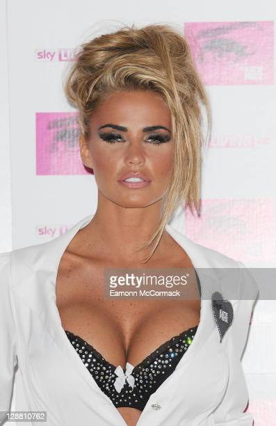 Katie Price promotes her new Sky Living series 'Signed By Katie Price' at The Worx on October 10 2011 in London England