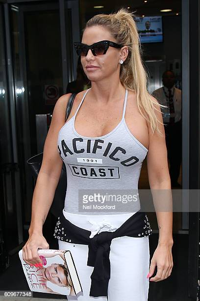 Katie Price seen at BBC Radio 2 on September 22 2016 in London England