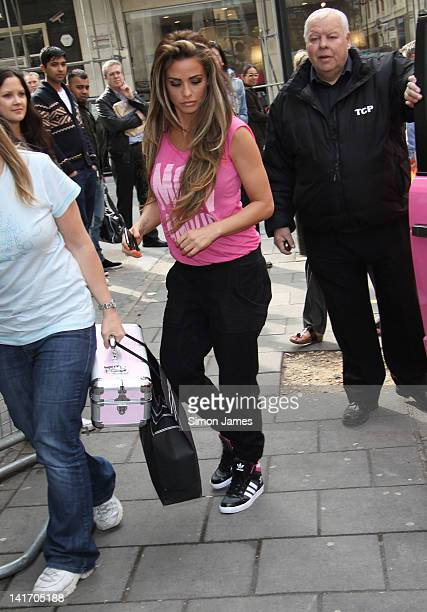 Katie Price seen at BBC Radio One on March 22 2012 in London England
