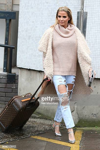 Katie Price seen at the ITV Studios after appearing on Loose Women on February 8 2016 in London England