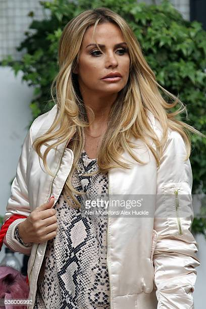 Katie Price seen at the ITV Studios after appearing on Loose Women on May 31 2016 in London England