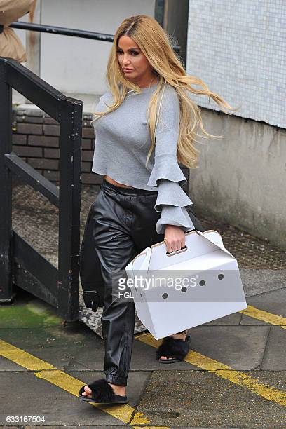 Katie Price seen at the ITV Studios after the Loose Women show on January 31 2017 in London England