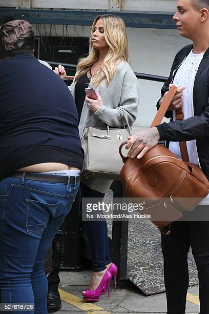 Katie Price seen at The ITV Studios on May 03 2016 in London England