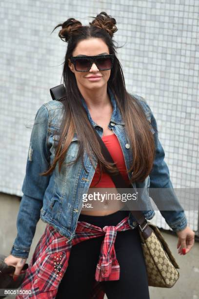 Katie Price seen at the ITV Studios on October 12 2017 in London England