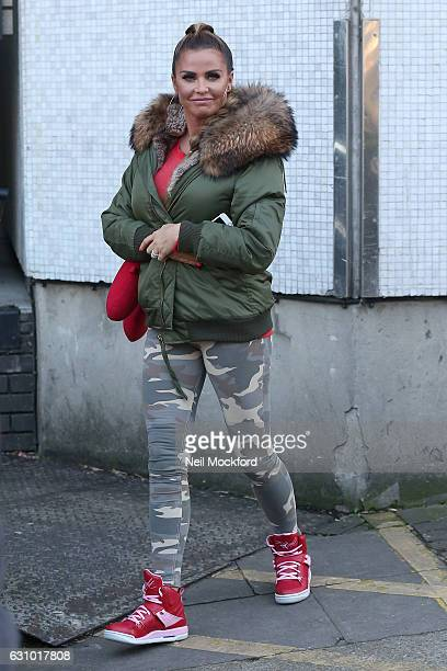 Katie Price seen leaving the ITV Studios after appearing on Loose Women on January 5, 2017 in London, England.