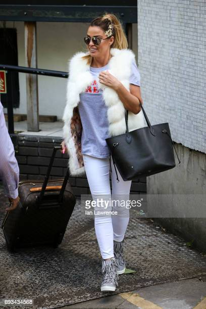 Katie Price seen leaving the ITV Studios after appearing on Loose Women on June 7 2017 in London England