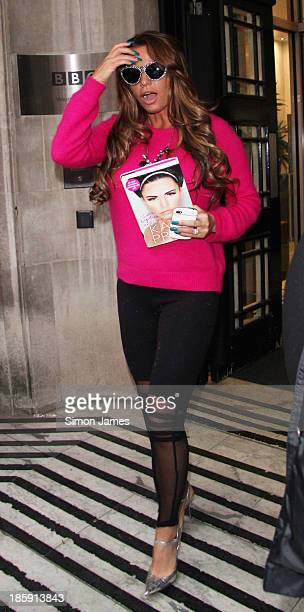 Katie Price sighted at the BBC on October 26 2013 in London England