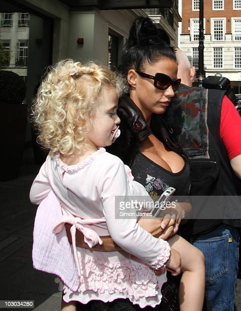 Katie Price sighted leaving her hotel on July 22 2010 in London England